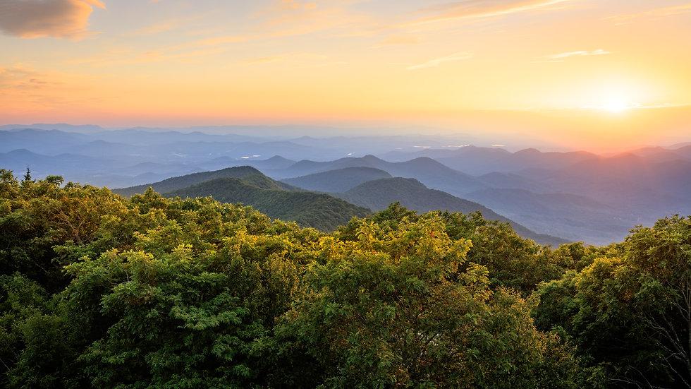 Sunset on the Blue Ridge