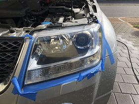 mobile car detailing headlight restoration