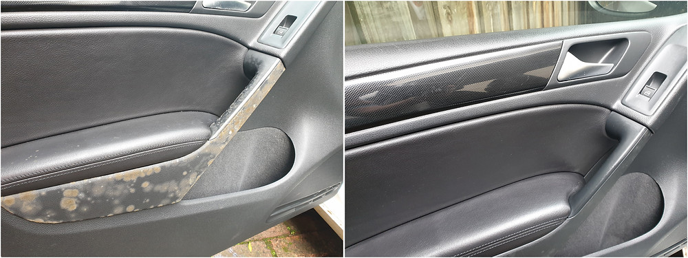 car interior door trims mould before and after