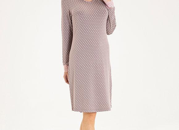 Blackspade Ladies Long Sleeve Polka Dot PJ Set in super soft Modal Fabric