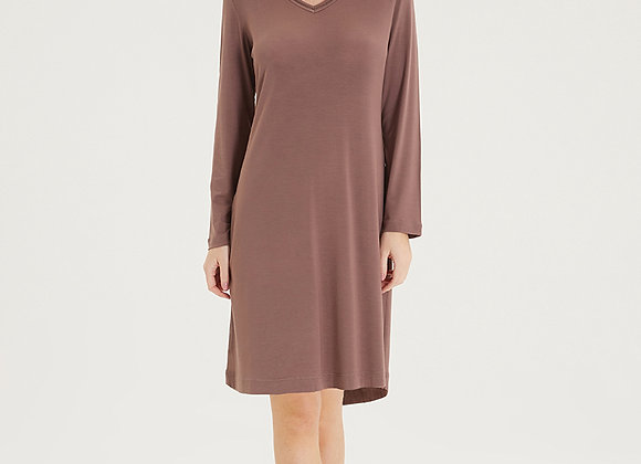Blackspade Long Sleeve Nightgown in soft Taupe RRP 28.00