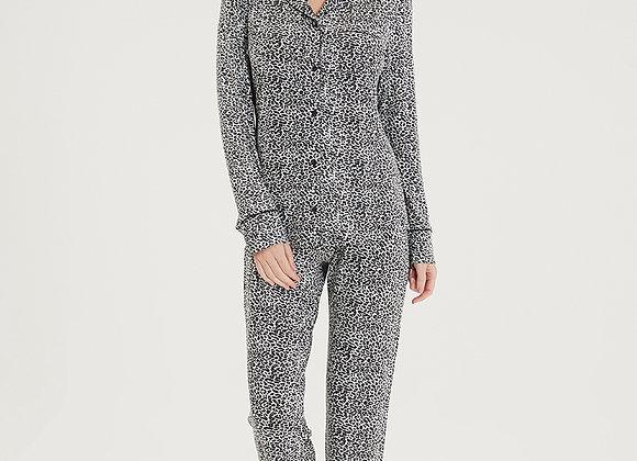 Blackspade Ladies Leopard Print PJ Set in super soft Modal Fabric