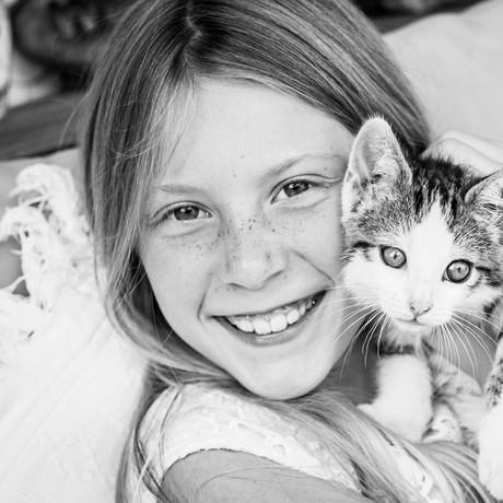 Kindershooting / Kinderfotografie mit Haustier