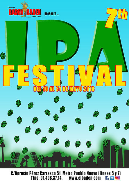 cerveza festival ipa lupulo hop artesana artesanal ibu ibus craftbeer birra ciudad lineal baden madrid