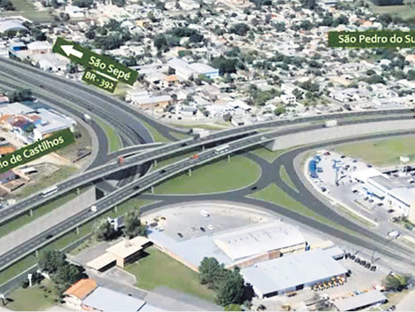 Trevo da Uglione terá novo formato de viaduto