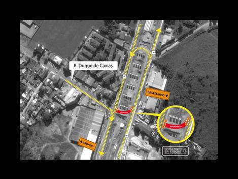Acesso à BR-158/RS pela Duque de Caxias, em Santa Maria, será bloqueado nesta terça-feira (20/06)