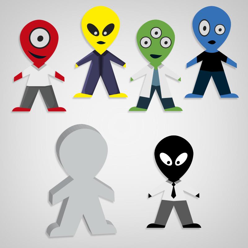 Pegatinas Alien 51: El ascensor