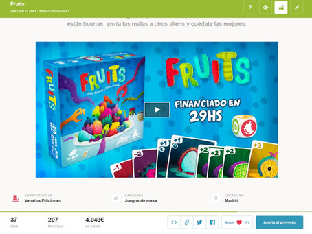 ¡¡¡Fruits ya en Verkami!!!