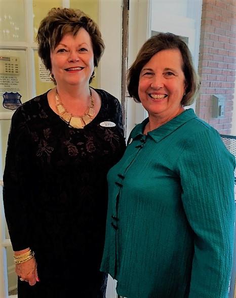 Carol Brugh, Corresponding Secretary, and Joan Satterly, Recording Secretary