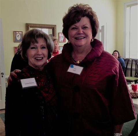 Barbara Tomlinson Brinson, Past President, and Carol Brugh, Corresponding Secretary
