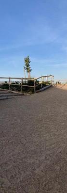 Wälzplatz mit Treppe