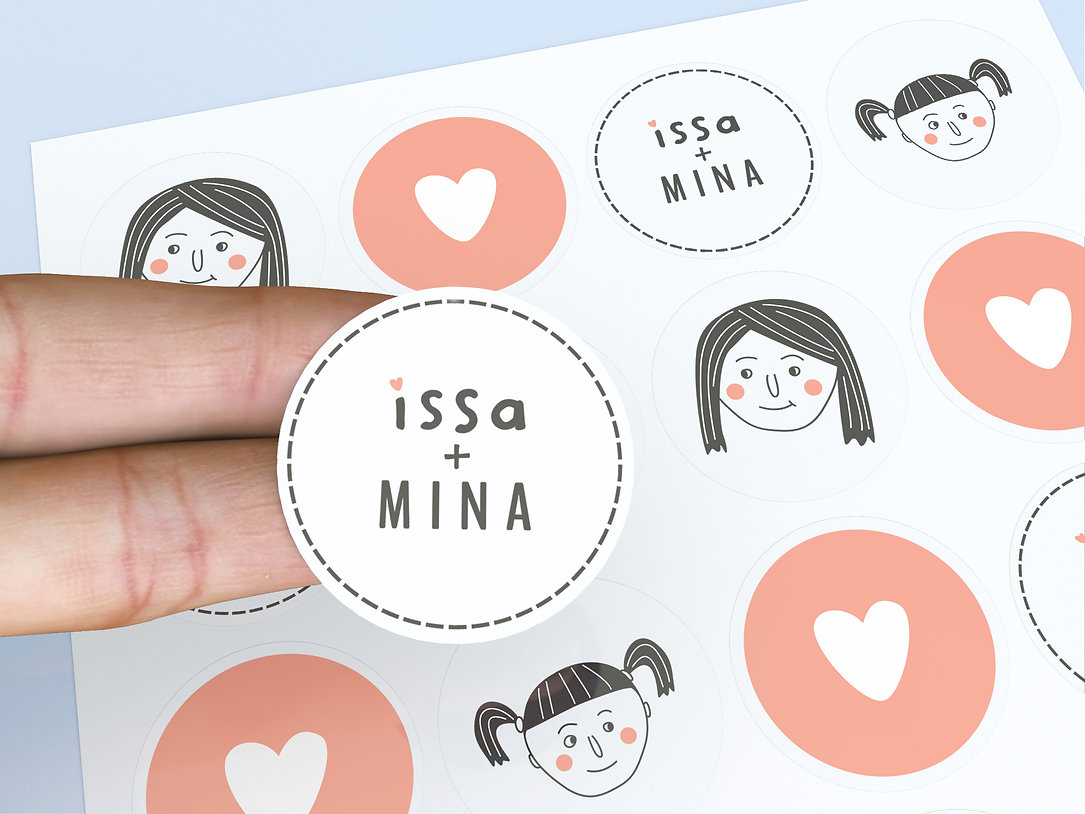 stickers and packaging desgn for childrenswear brand