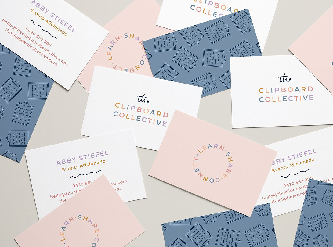 The Clipboard Collective Business Cards.