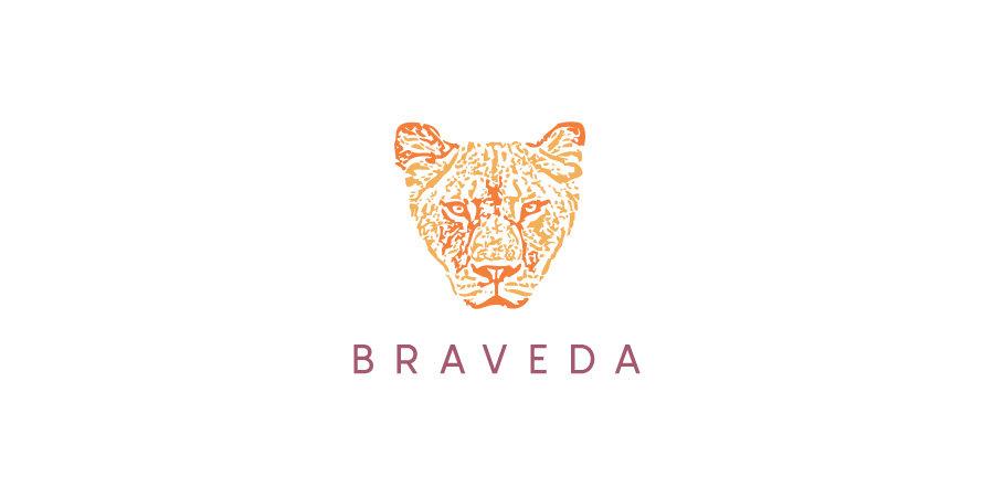 Braveda logo design
