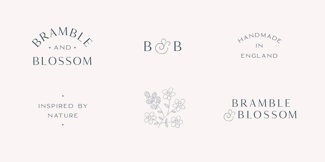 bramble and blossom alternate logos and