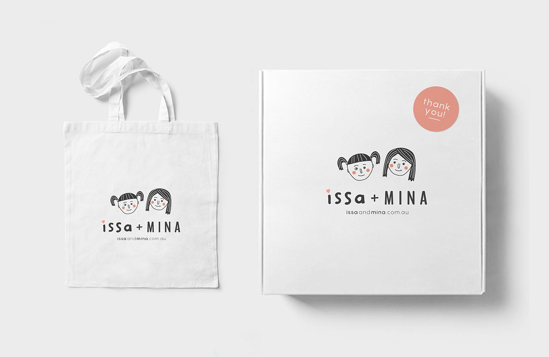 packaging design and branding for cute childrens clothing company