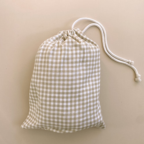Organic Gingham Fitted Cot Sheet Pre-Order
