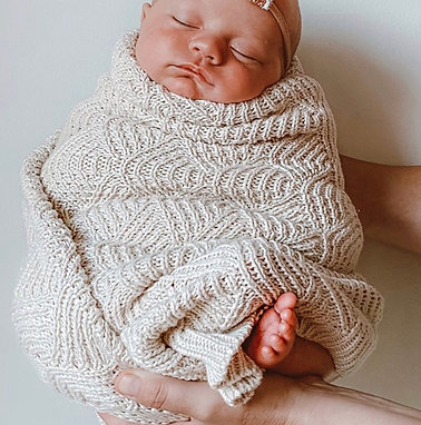 100% Organic Shell Stitch Blanket