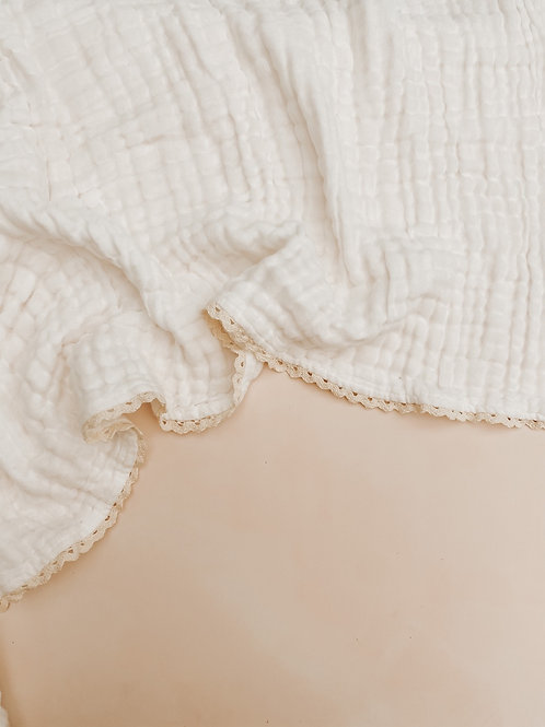 100% Organic 6 Ply Gauze Lace Blanket