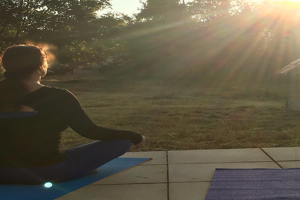 Yoga as the sun rises