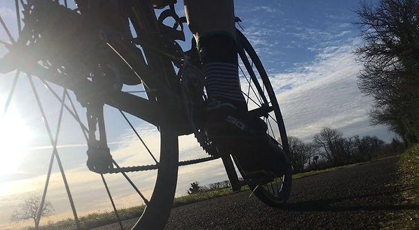 cycling at dusk