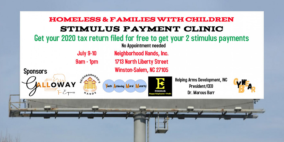 Homeless Stimulus Payment Clinic