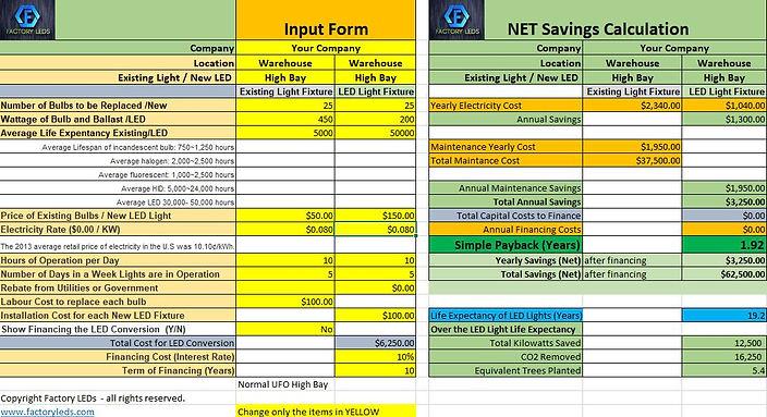 Cost Saving Calculator Pic - Dec 13 2019