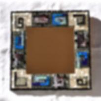 Miroir réalisé en smalts vénitiens transparents