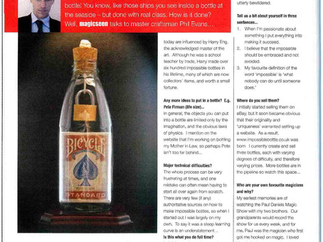 From the archives: impossible bottles in Magicseen Magazine