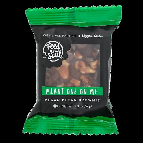 Plant One On Me: Vegan Pecan Brownie