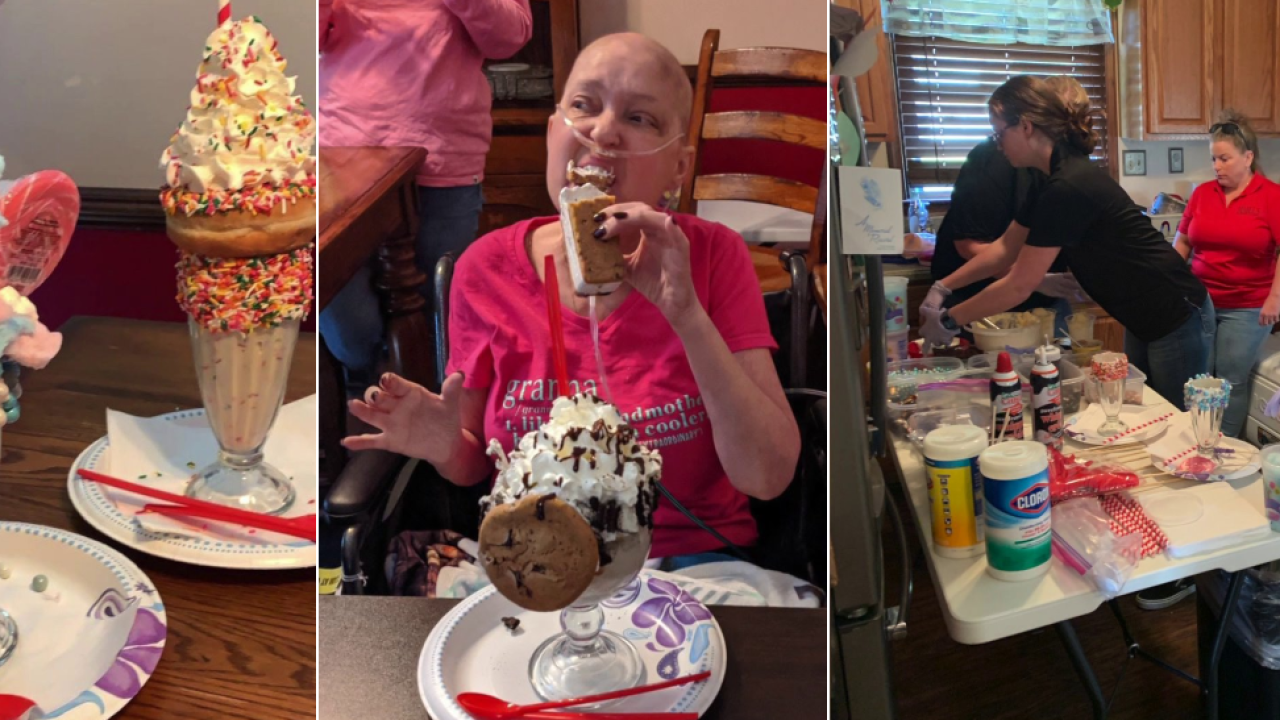 Ice cream shop, sheriff deliver milkshake an hour away to terminally ill Virginia woman