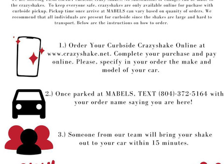 For a Limited Time Only: Curbside Crazyshakes