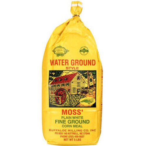 Moss' Plain White Corn Meal 5lbs. bag (Case of 6)