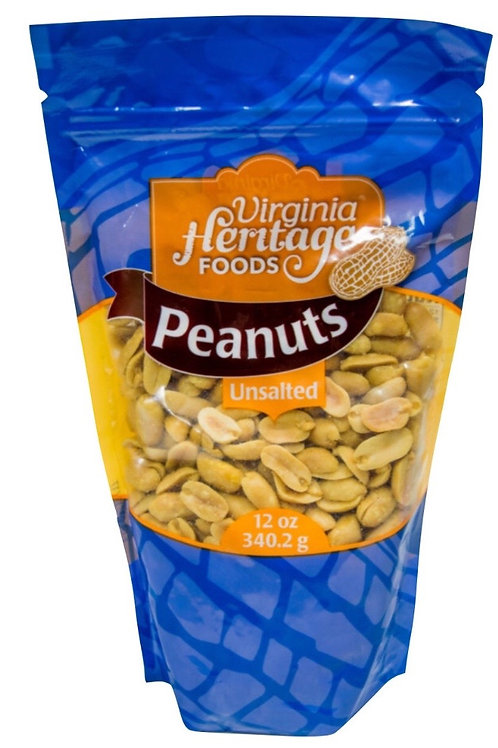 Virginia Heritage Foods Unsalted Peanuts 12oz (Bag)