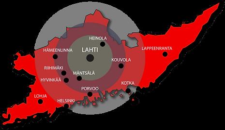 PT Pintaremppa toimii laajalti Etelä-Suomen alueella