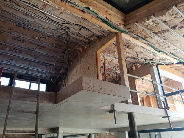 ITI - Isolation plafond rampant avec laine de verre