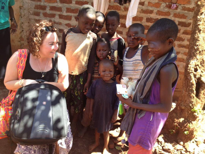 Sick kids in Uganda
