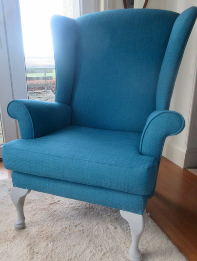 Traditional wing back chair.