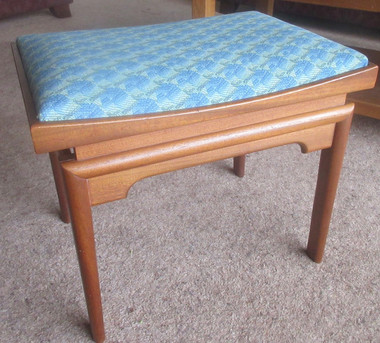 1970s floating dressing table stool