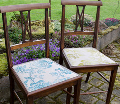 Pair of Edwardian chairs.