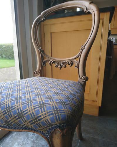 Victorian balloon back chair.