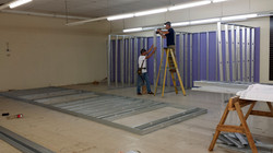 Halfway done on the lesson rooms!