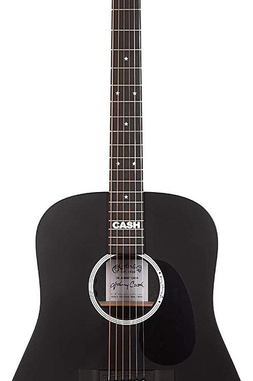 Martin DX Johnny Cash - Jett Black w/Gig Bag