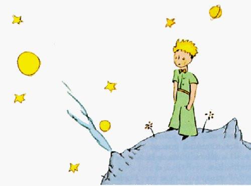 """Ο """"πλανήτης"""" του Μικρού Πρίγκιπα - Β612, ο οποίος έχει τρία ηφαίστεια (δύο ενεργά και ένα ανενεργό) και ένα τριαντάφυλλο και είναι το σπίτιτι του"""