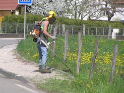 Débroussaillage bord de route