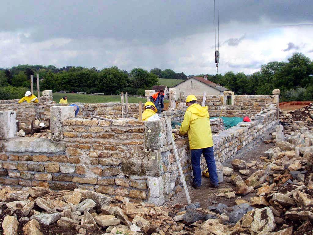 Nancray musée construction mur