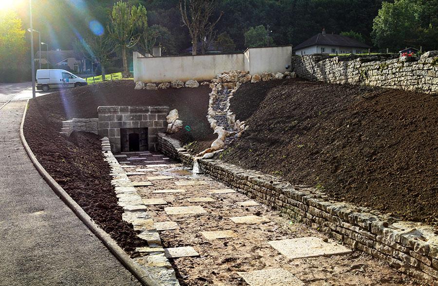 rénovation lavoir et fontaine