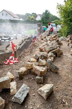 aménagement Montfaucon mur 2014