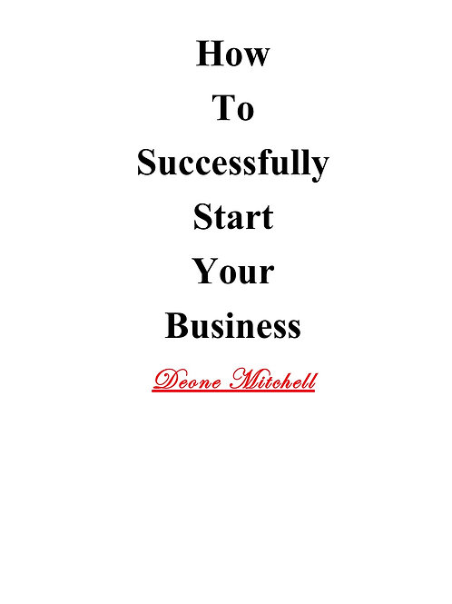 How to Successfully Start Your Business/Business Plan