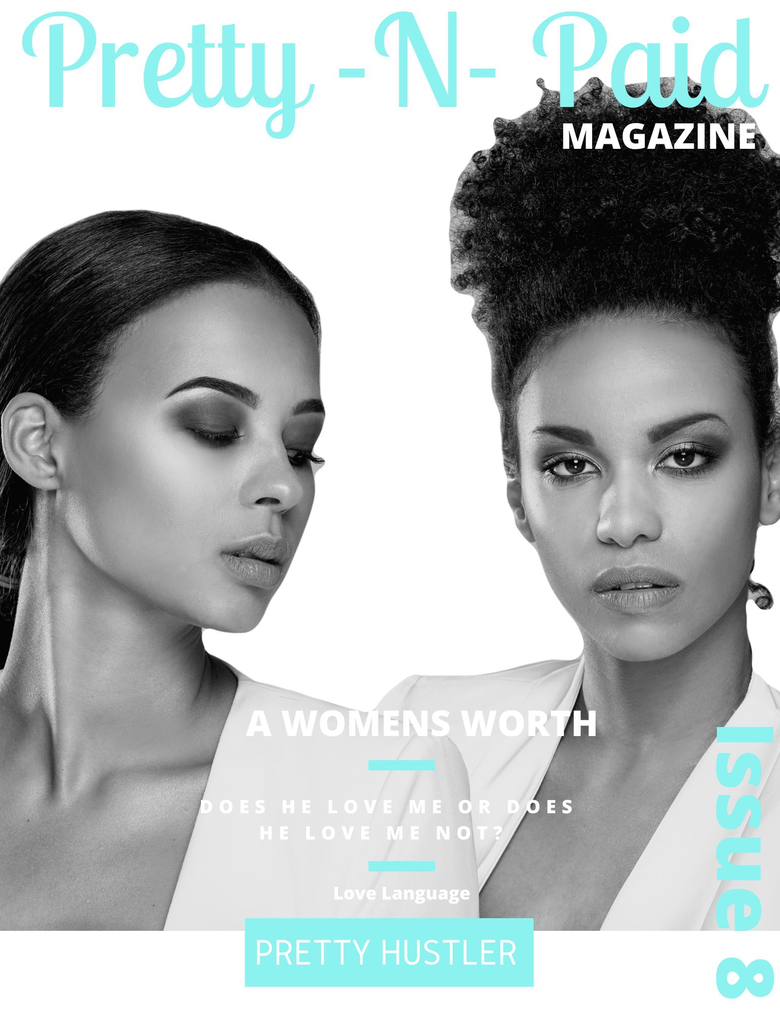 Aqua Greyscale Teen Magazine Cover